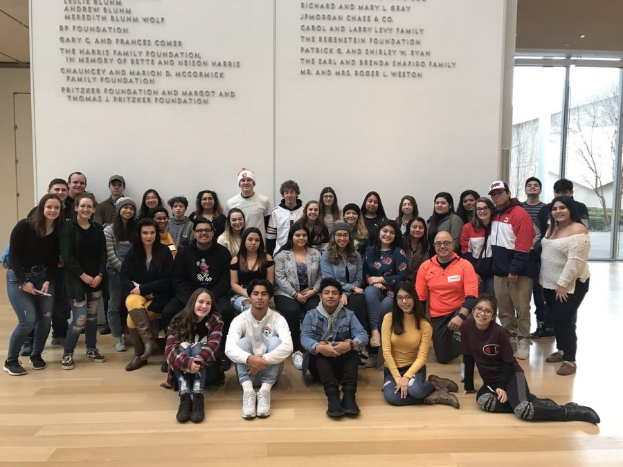 Students at the Art Institute Field Trip on Feb. 16