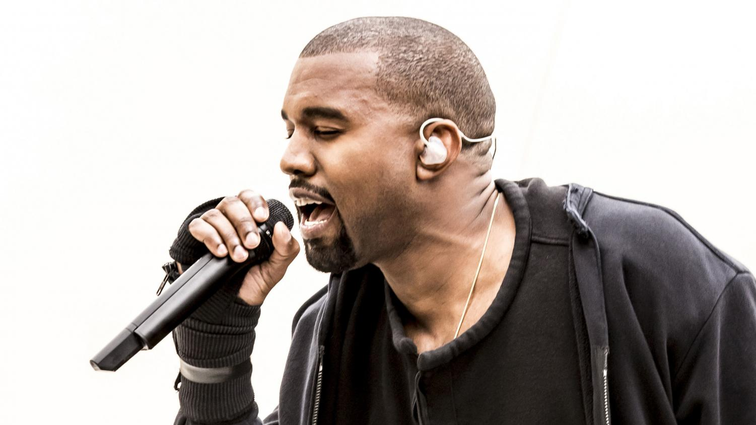 Kanye West performs last year