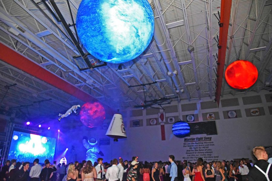 Record numbers of students packed West Campus's gym for during this year's Homecoming dance on October 12.