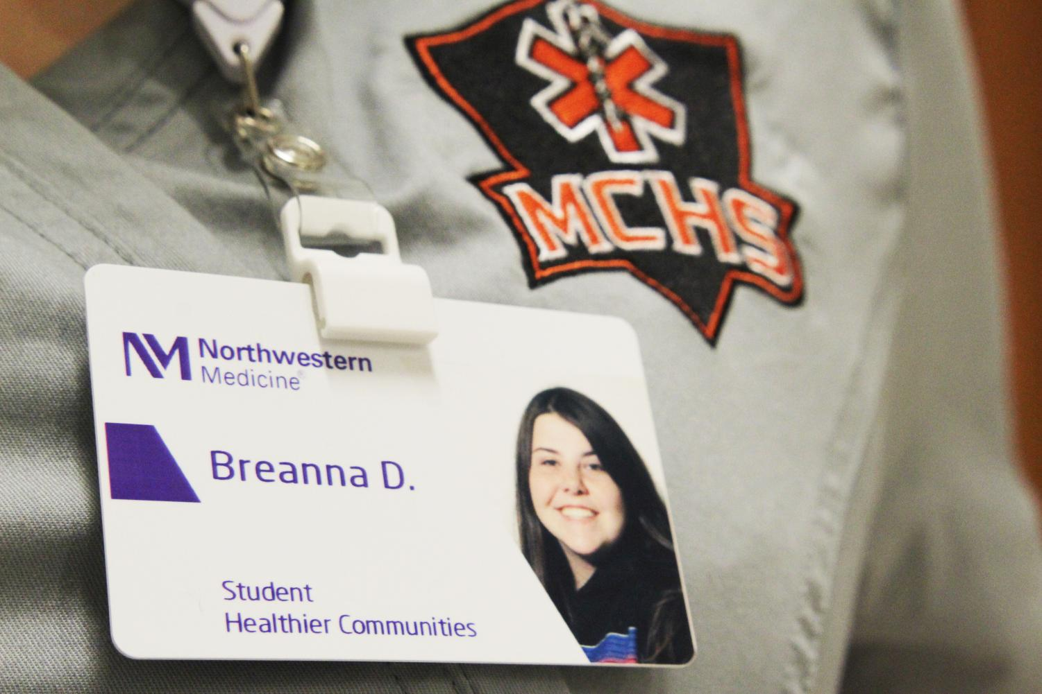 Breanna Darcy, a senior involved with the medical residency program, received hands-on experience at Northwestern Medicine that ended up saving her brother's life.