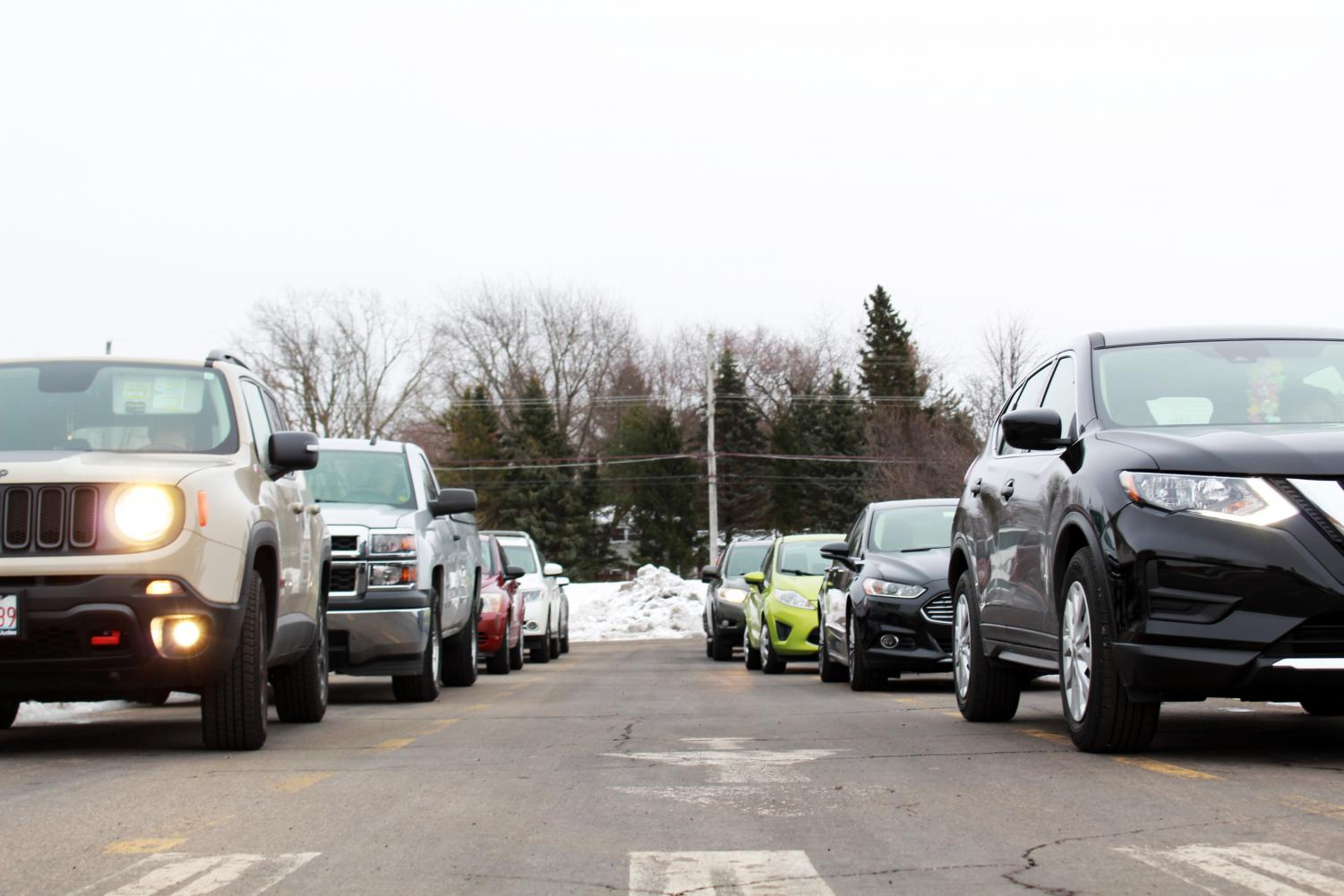 The parking lots at East and West are already hectic — and the behavior of drivers in the drop-off lane make the lot even more treacherous.