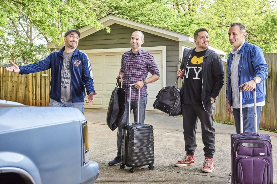 "Since 2011, ""Impractical Jokers"" has made audiences laugh with their unscripted competitive antics. The comedy team hit the big screen in February with their first feature-length film."