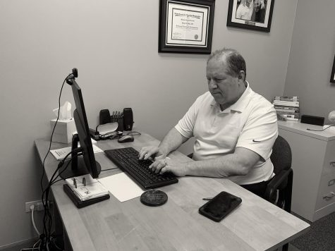 Working harder than ever, Dr. Robert Kohn sees patients electronically to ease the anxiety caused by the COVID-19 shutdown.