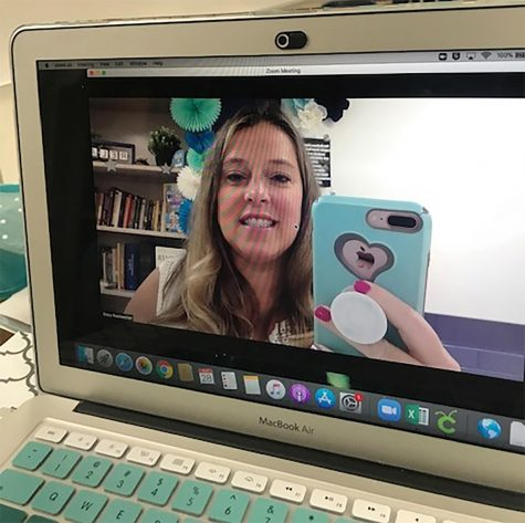 Prepping for remote learning, Rockweiler translates her teaching style to the virtual world.