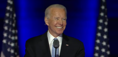 President-elect Joe Biden celebrates his election victory in a speech on November 9 to the American public. During his transition, Biden has continued to preach unity between political parties—a key campaign message.