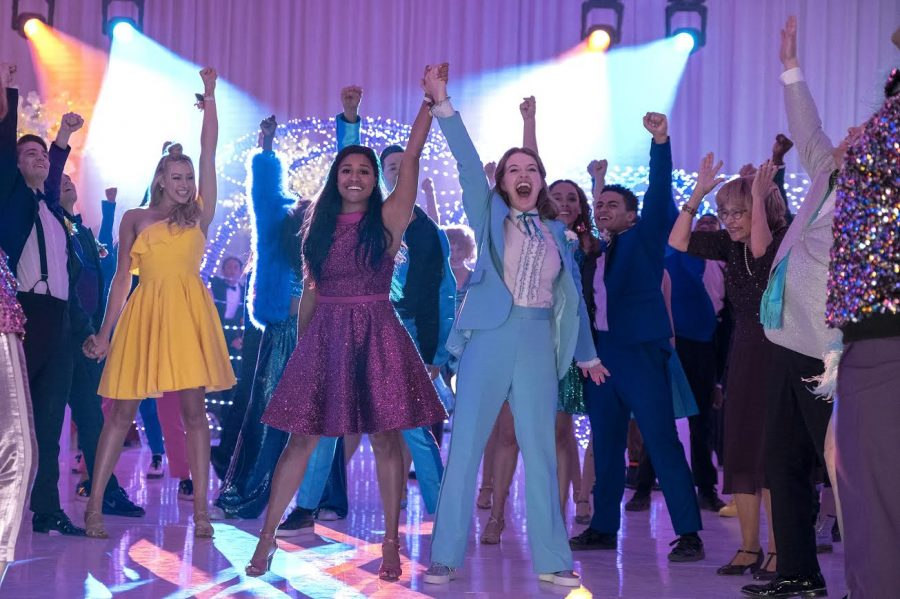 Netflixs 2020 movie the Prom, which came out Friday, is about a girl who cant go to prom with her girlfriend—until a group of struggling Broadway actors decide to help out.