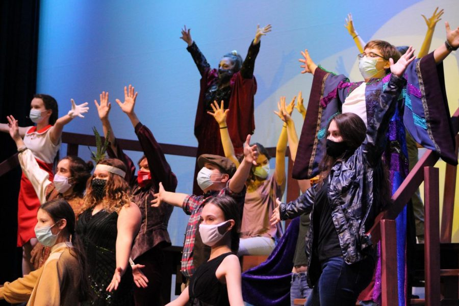 As tech week for McHenry High School's 2021 Musical Revue begins in the West Campus auditorium, the cast dances through