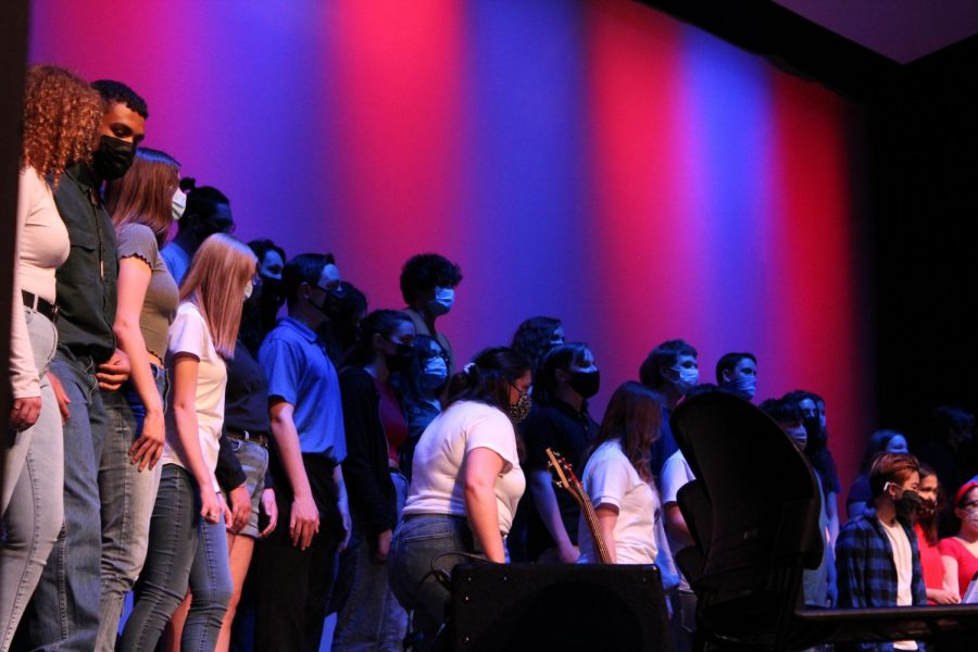 MCHS's Concert Choir performs their first and last concern to the year in the West Campus auditorium on May 6.