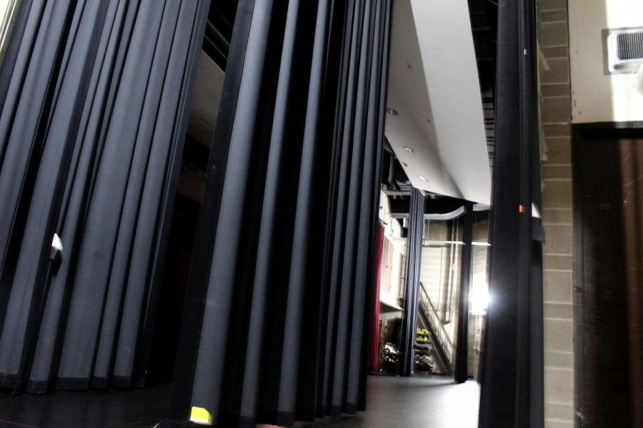 The backstage area of West's auditorium has been a safe space for many drama club students to express themselves. The 2021-22 school year will be the first year without both East and West fall plays.